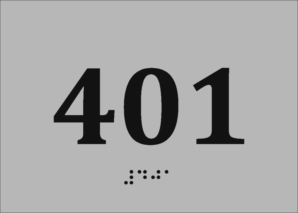 Универсальные таблички с использованием шрифта Брайля и тактильной графики